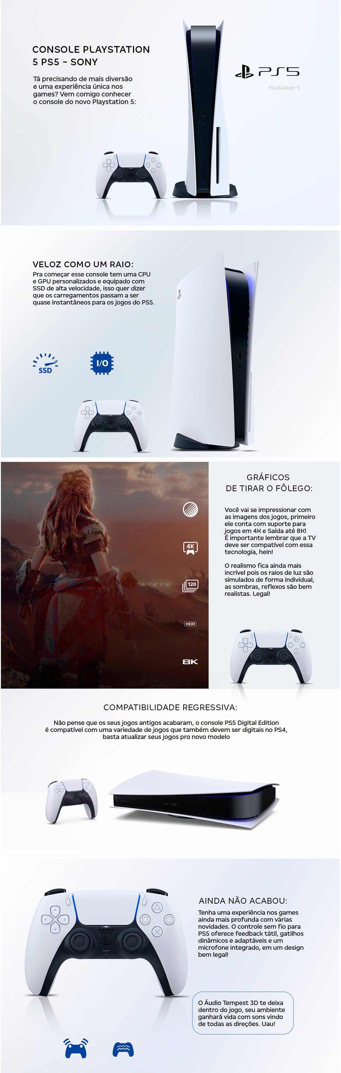 PlayStation®5 é aqui na Nagem.com.br