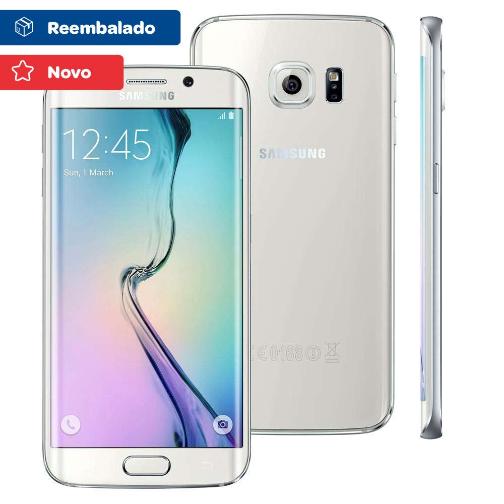 Smartphone Samsung Galaxy S6 Edge Android 5.0 Tela 5.1 64gb 4g Wi-fi Câmera 16mp Branco
