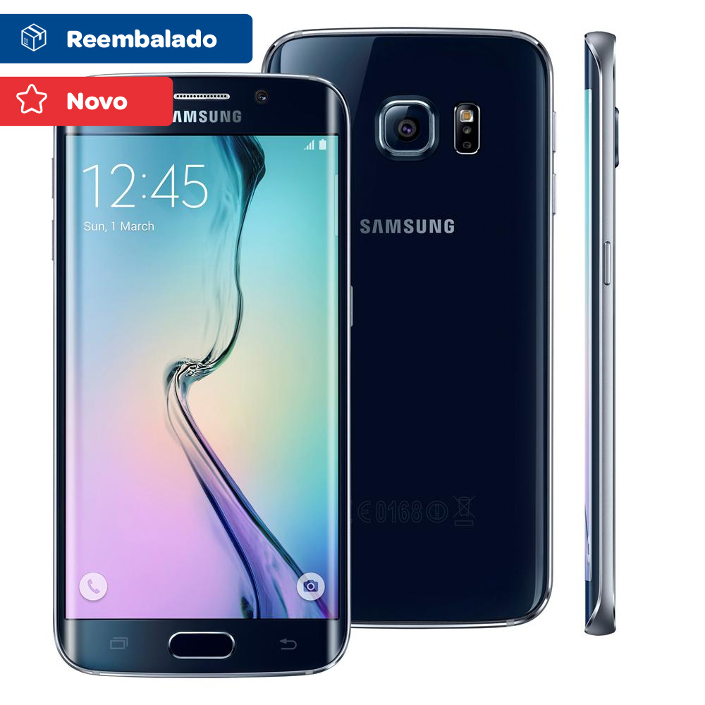 Smartphone Samsung Galaxy S6 Edge Android 5.0 Tela 5.1 64gb 4g Wi-fi Câmera 16mp Preto