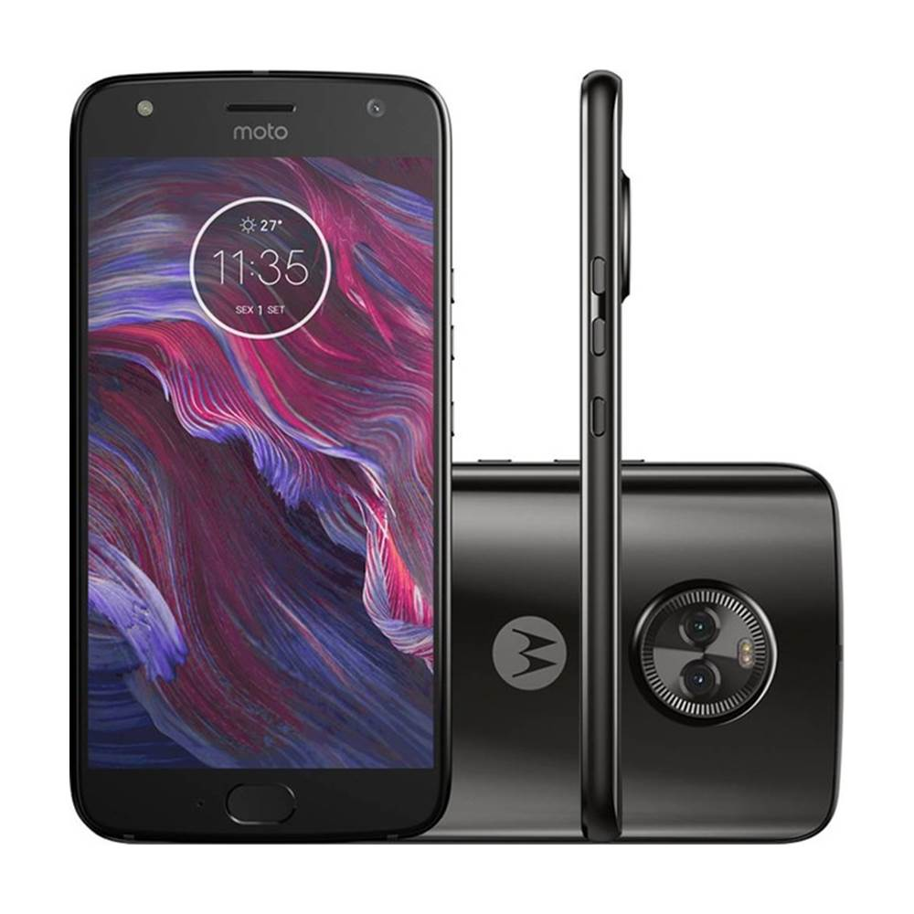 Smartphone Motorola Moto X4 Dual Chip Android 7.1 Tela 5.2 32gb 4g Câmera 12mp Preto