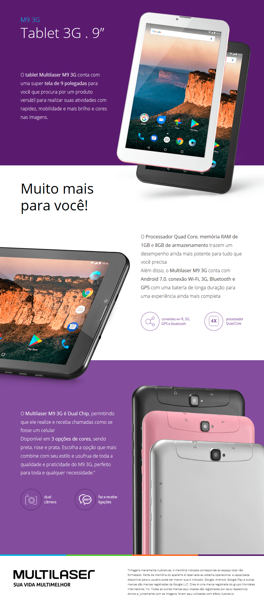 Tablet Multilaser M9