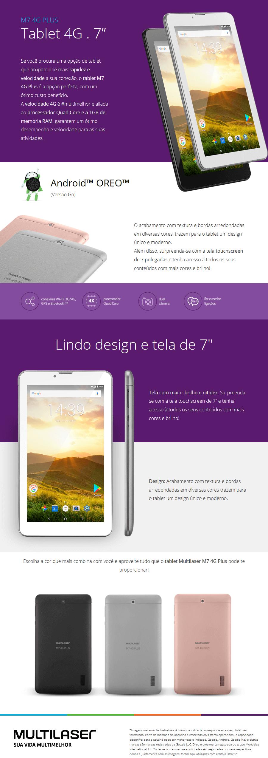 Tablet Multilaser M7 Plus